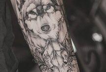 Wolfe tattoo