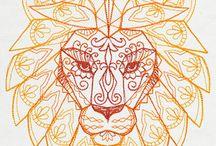- Lion + Peacock -