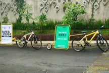 BikeVertising / Low budget n green advertising soution