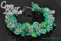 Bransoletki z koralików szklanych / Przykładowe wzory bransoletek z koralików szklanych w customjewellery.
