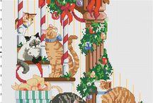 borduurpatroon kerstsok