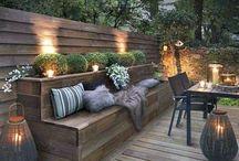 Terrasse / Jardin / Fleur / Plante