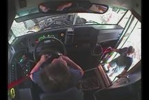 Viral Video - VIDEO - Inside Of The Bus Getting T-Boned By a Tractor Trailer