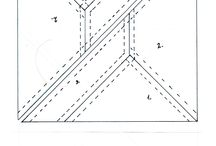 Négyzet alakú Csavart orsó. / Négyzet alakú csavart orsó minta.