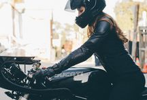 Woman motorcycle