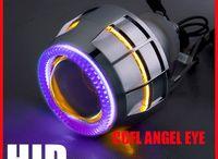 2.8 inch Double Angel Eye CCFL / 3W 12V NEW CCFL Double Angel Eye 2.8 inch Bixenon Projector Lens with H4 H13 9007 H1 H7 HB4 9004 HB3 4300K 5000k 6000K 8000K