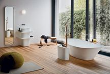 FONTE collection / Everything is inspired by Japanese philosophy where the research of the archetypal harmony transforms daily actions in eternal rituals #design #bath #bathroom #style #interior #home  Design by Monica Graffeo