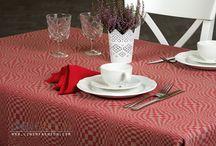 Festive linen tablecloths