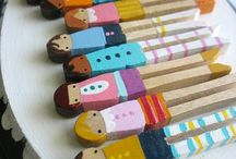 Clothespin Dolls / by Lori Cease
