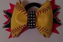 Softball Hair Bows