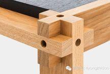 dettagli e incastri in legno