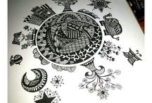 ♥MY DOODLE♥ / Pen and ink drawing by me.. ♡♡