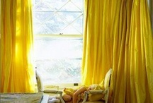Color Stories | Mimosa Yellow / Trend Spotting Mimosa Yellow Interiors in Design, Home Decor, Art, Accessories, Style and Fashion. Featured: Pantone Color of the Year 2009 Mimosa Color Palettes