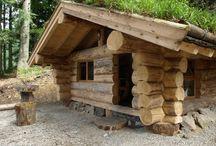 cabanes en rondins