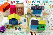 Místo kde bydlím, město, vesnice, domov