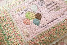 quilt / quilts and quilted small items suitable for embroidery