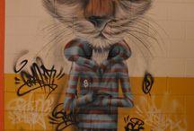 Modern cat in art