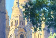 Paintings with City Views / Paintings with City Views Featured by Mark Murray Gallery