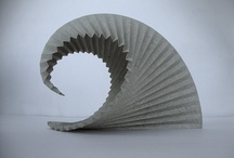 Architectonics: paper model with light effect on water