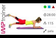 gym a terra se le ginocchia sono fuori uso
