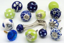 Just beautiful sets of our unique cupboard doorknob designs / Sets of ceramic doorknobs by www.theseplease.co.uk