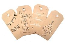 Kraft labels cadeaus