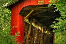 water, works / Nostalgic covered bridges, dams, grist mills, bridges and other man-made water works from the 20th century and earlier.