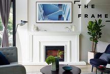 SAMSUNG: THE FRAME / Fernseher verstecken TV verstecken Gallery wall Fernsehwand  TV Wand Ideen Wohnzimmer Ideen Einrichtungsideen