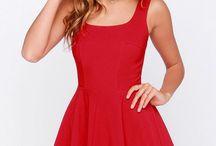 vestidos cortos rojo brillante