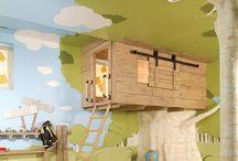 Boys tree house game room