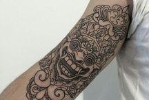 Mask Bali Tatouage Mollet