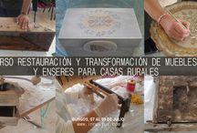 #TurismoRural Curso de Decoracion de muebles y enseres para alojamientos  rurales / Caleruega, Burgos 07 al 09 de Julio