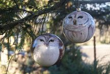 Christmas baubles by Joanna