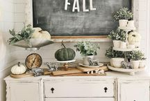 AW Trend | Natural Fall / Eucalyptus and White. This year's must have trend for fall and Thanksgiving