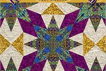 Kaleidostars / Quilts from my book and student samples