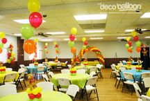 Winnie the Pooh balloon decor