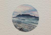 Mountains and sea tattoo