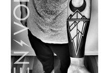Tuval gibi koluma dövmeler