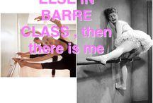 Barre Class / Barre class Humor