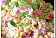 Corn/ salads