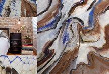 Interior design abstract art.