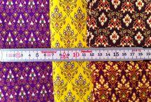 Oriental Patchwork Fabrics / Colorful Patchwork fabrics - oriental style