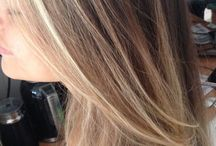 Ombre / Ombre done in a dark blonde hair. Looking very natural. Haircut and blowdry