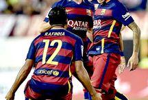 Rafinha , Sergi Roberto i Neymar JR