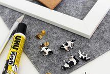 Büro & Schreibtisch   NOCH kreativ / Tolle Deko, DIYs und kreative Bastel-Ideen und -Anregungen für den Arbeitsplatz wie z. B. Pinnwand, Memoboard, Stiftedosen und vieles mehr!