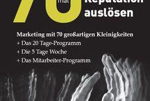 """Reputationsauslöser / 70 großartige Kleinigkeiten für Ihr Marketing aus dem Buch von Jürgen Linsenmaier """"70mal Reputation auslösen"""""""