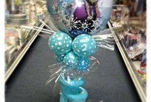 Frozen Snow Flake Winter Theme Balloon Ideas / Frozen Snow Flake Winter Theme Balloon Ideas