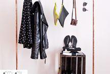 Porte manteau cintres
