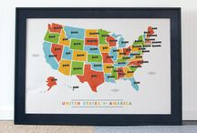 Maps / Map prints, American maps, and road trip maps.