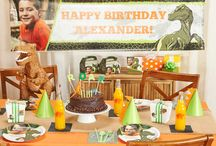Dinosaur Birthday Party Ideas / Throw a triceratops terrific, T-Rex rockin', brontosaurus bash with this awesome Dinosaurs theme. Your pint-sized paleontologist will love traveling back to the Mesozoic Era and visiting his or her favorite dinos in the Jurassic, Triassic and Cretaceous times. / by Birthday Express